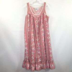 VTG 70s Prairie Chic Floral Maxi Dress Medium